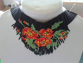 Náhrdelníky - chocker kvetiny - 8406173_