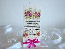 Svietidlá a sviečky - Svadobné poďakovanie, sviečka v trojuholníkovom tvare - 8405376_