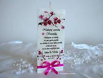Svietidlá a sviečky - Ďakujem, sestrička, svadobné poďakovanie - 8405400_