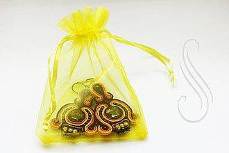 Obalový materiál - ozdobné vrecúško organzové žlté 9x12 / 1ks - 8406706_