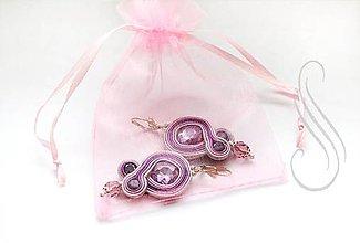 Obalový materiál - ozdobné vrecúško organzové ružové /1ks - 8406722_