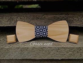 Doplnky - Štýlový drevený set pre pánov ♡ - 8405004_