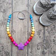 """Náhrdelníky - Silikónový kojo náhrdelník k šatke """"Lennylamb symphony rainbow"""" - 8405828_"""