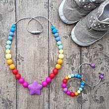 """Sady šperkov - Set silikónového náhrdelníku a náramku """"Symphony rainbow"""" - 8405870_"""