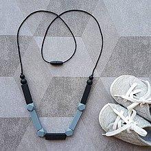 """Šperky - Silikónové kojokorále na kúsanie aj pre otecka """"Geometria"""" - 8405927_"""