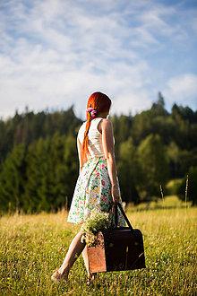 Sukne - Kvetinová sukňa - 8404799_
