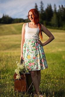 Sukne - Kvetinová sukňa - 8404801_