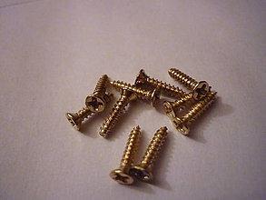 Komponenty - Skrutky zlaté-ihned k odberu - 8406631_