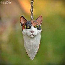 Kľúčenky - Mačka/kocúr - prívesok podľa fotografie - 8404991_
