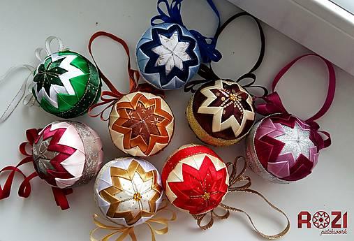 e17427eb9 Patchwork vianočné gule / Rozii - SAShE.sk - Handmade Dekorácie