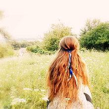 Ozdoby do vlasov - Indiánska čelenka - voda - 8407152_