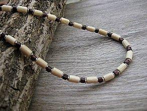Detské doplnky - Chlapčenský drevený náhrdelník okolo krku (svetlý č.1084) - 8405526_
