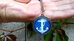 Náhrdelníky - Náhrdelník kotva / zľava z 9e/ - 8407060_