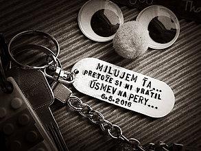 Kľúčenky - Milujem Ťa ... pretože si mi vrátil ÚSMEV na pery - 8407801_