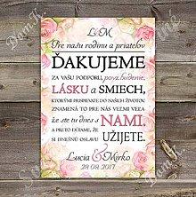 Papiernictvo - Ďakovná kartička s maľovanými kvetmi 10a - 8408979_