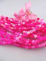 achát matný ružový korálky 8mm
