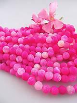 achát ružový 10mm - matný korálky