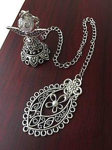 Papiernictvo - Záložka anjelik s perličkou - 8407376_