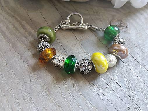 Vo farbách slnečnice-Pandora náramok   Johnny7 - SAShE.sk - Handmade ... e6fce04e982