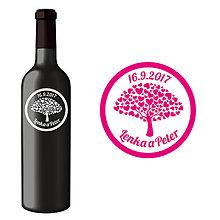 Darčeky pre svadobčanov - Svadobná etiketa Morgiana - Vyrezávané etikety, Svadobné etikety, Etikety na víno, Vinylové etikety, Etikety na fľaše, Nálepky na víno - 8407296_