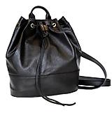 Luxusný kožený ruksak z jemnej prírodnej kože v čiernej farbe