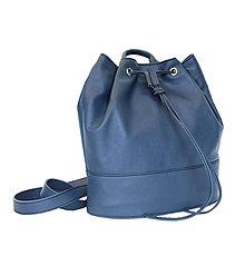 Batohy - Luxusný kožený ruksak z jemnej prírodnej kože v modrej farbe - 8408670_