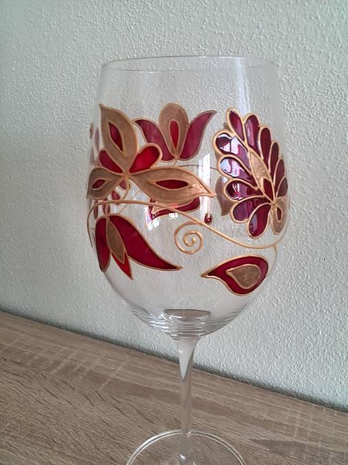 Pohár na víno červený 2