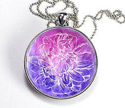 Náhrdelníky - Lotos fialový - autorský náhrdelník - velký - 8407470_