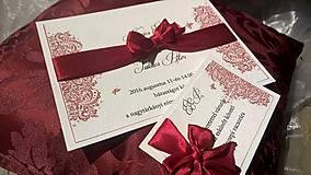 Papiernictvo - Červené mašle - 8407949_