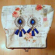Náušnice - Modré náušničky ;) - 8409266_