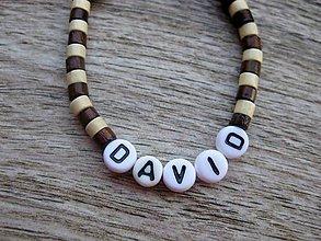 Detské doplnky - Chlapčenský náramok drevený (DAVID č.1087) - 8407366_