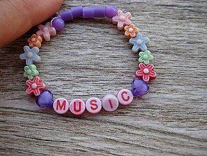 Detské doplnky - MUSIC - detský náramok č.1090 - 8407387_