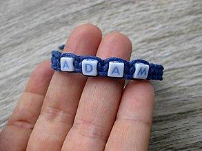 Detské doplnky -  Chlapčenský pletený náramok s menom (ADAM  č.1100) - 8407529_
