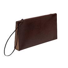 Kabelky - Kožená listová kabelka Brunn Clutch - 8412269_