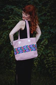 """Veľké tašky - Taška """"dýcha fialkami"""" - tašky - 8412106_"""