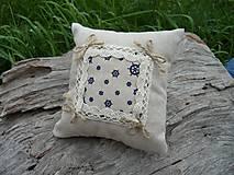 Úžitkový textil - Dekoračný vankúšik námornický II. - 8412504_