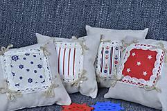 Úžitkový textil - Dekoračné vankúšiky námornické..sada 4 ks - 8412533_