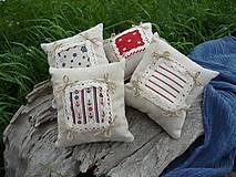 Úžitkový textil - Dekoračné vankúšiky námornické..sada 4 ks - 8412535_