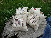 Úžitkový textil - Dekoračné vankúšiky námornické..sada 4 ks - 8412536_