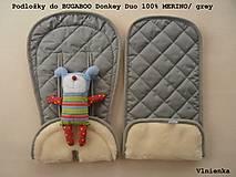 Textil - MERINO podložka do kočíka BUGABOO Bee s ozdobným prešitím ELEGANT White smotanová - 8410491_