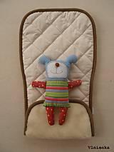 Textil - MERINO podložka do kočíka BUGABOO Bee s ozdobným prešitím ELEGANT White smotanová - 8410524_