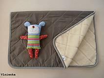Textil - MERINO podložka do kočíka BUGABOO Bee s ozdobným prešitím ELEGANT White smotanová - 8410534_