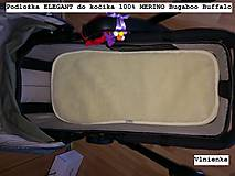 Textil - Podložka do kočíka 100% ovčie rúno MERINO TOP Bugaboo Buffalo by Diesel Hviezdička - 8412056_