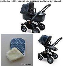 Textil - Podložka do kočíka 100% ovčie rúno MERINO TOP Bugaboo Buffalo by Diesel Hviezdička - 8412093_