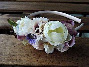 Ozdoby do vlasov - Čelenka jemná fialová - 8409858_