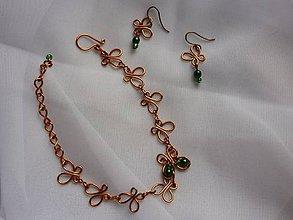 Sady šperkov - Motýlikový náramok s náušnicami - 8411933_