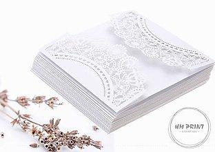 Papier - Vyrezávaný obal na svadobné oznámenie - 8412391_