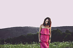 Šaty - letné koralové - 8410612_