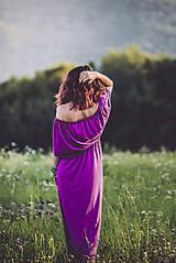 Šaty - letné fialové - 8410673_