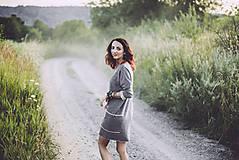 Šaty - jesenné šedé - 8410845_